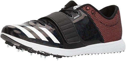 adidas Adizero tj/pv Running Shoe, core Black, FTWR White, Orange, 9 M US