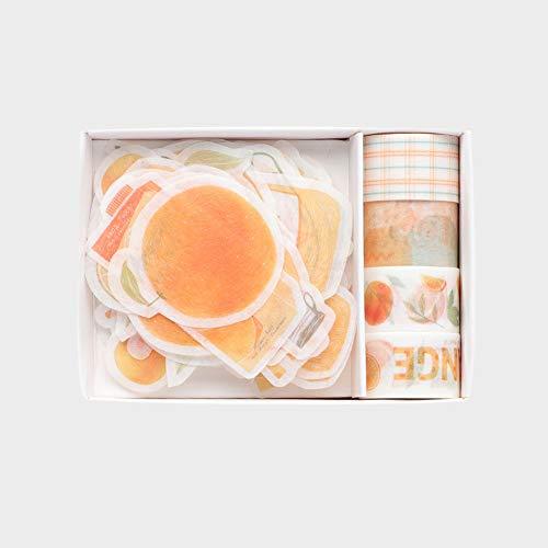 Fruit Washi - Juego de cinta adhesiva y adhesivo para cuadernos de viajero, diario,...