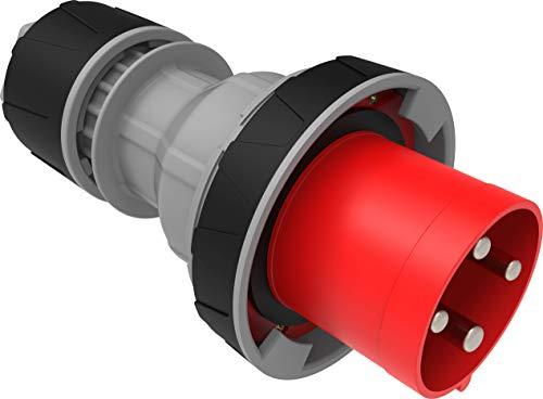 Bemis Enchufe CEE 4x125A (3P+E) 380V 50/60Hz 6h IP67 - Rojo