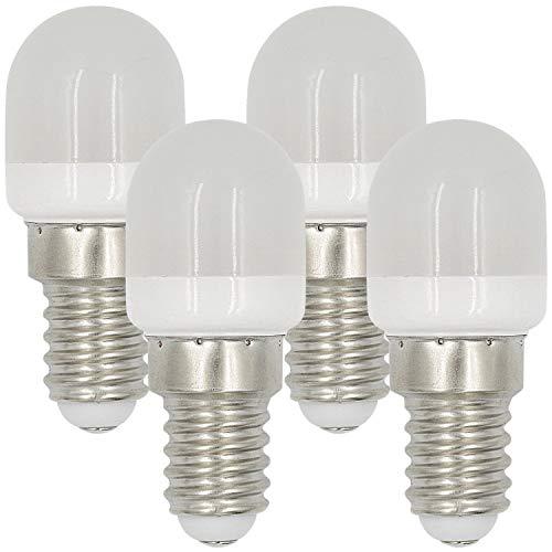 MENGS 4 Stück E14 2W LED Kühlschrank Birne Lampe AC 220-240V Warmweiß 3000K 8x2835 SMD Mit PC Mantel