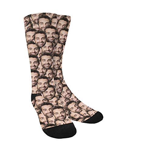 Custom Face Socks Multiple Faces, Your Photo on Socks for Men Women Dad Father's Day