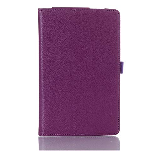 QiuKui Tab Funda para Samsung Galaxy Tab 3 7.0 SM-T210 T211 P3200, Funda Folio Magnetic Smart PU Auto-Stand de la Funda para Samsung Tab 3 P3200 (Color : Purple)