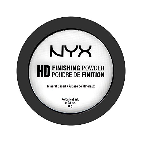 NYX Professional Makeup High Definition Finishing Powder, Gepresstes Puder, Perfektionierte Haut, Mattes Finish, Ölabsorbierend, Vegane Formel, Farbton: Translucent