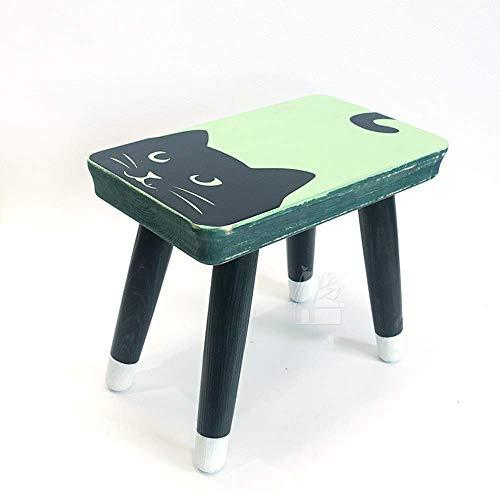 WTT stoel Noordse stijl kinderstoel kinderkamer meubels houten kruk moderne wooncultuur kinderkamer decoratie kinderverjaardagscadeau dier ottoman kruk (kleur: A-3)