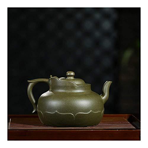 KANJJ-YU Tetera de Wang Yujun 僧 Cap Zisha Pot Hecha a Mano Original Mina Republicano Arcilla Verde Tetera