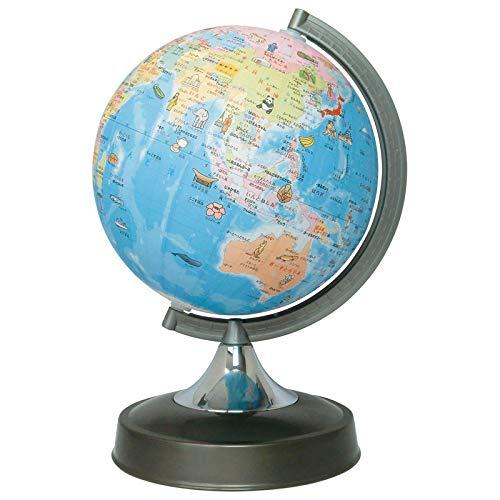 絵入りひらがな地球儀(日本地図付)