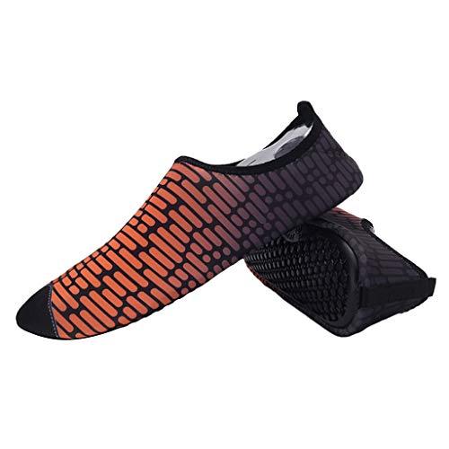Colcolo Calzado Descalzo Calcetines de Yoga Portátiles de Secado Rápido a Prueba de Agua para Adultos - como se Describe + como se Describe, 45-46 Naranja