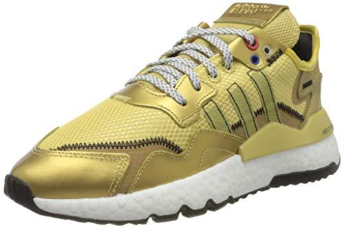adidas Damen Nite Jogger W Sneaker, Gold Met./Core Black/Gold Met, 37 1/3 EU