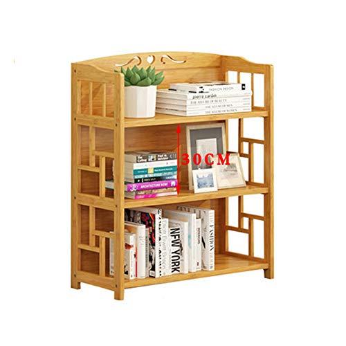 TOPYL dikke houten plank boekenkast, compacte multifunctionele smalle boekenplank opbergrek voor thuis of op kantoor