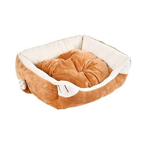 MYSZCWCF Haustierbett Vier Jahreszeiten Universal Katzenbett Hundebett Netto-Haustiernest der Roten Karikaturart Teddy Hundebett Orange