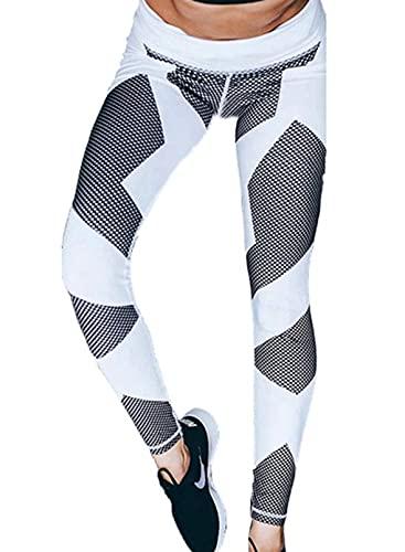 CORAFRITZ Pantalones de yoga de cintura alta con textura de nido de abeja flaco gimnasio fitness polainas control de barriga deporte correr entrenamiento bodycon pantalones deportivos