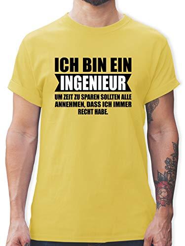 Sonstige Berufe - Ich Bin Ingenieur - XL - Lemon Gelb - Herren t Shirt deutsches reich - L190 - Tshirt Herren und Männer T-Shirts
