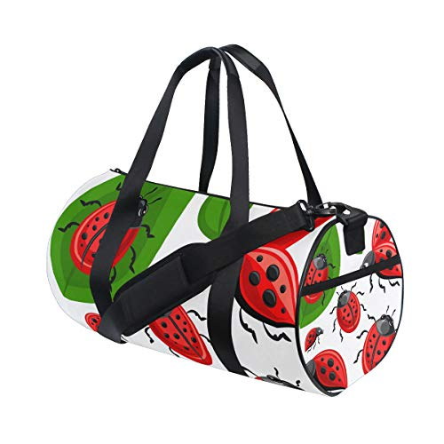 DEZIRO Schöne Ladybug Sport Duffle Bag Drum Sporttasche