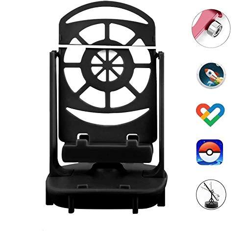 DAPENF Phone Swing Accessoires Geschikt voor Poke Ball Plus/Pokemon Go Mobiele telefoon stappenteller, [USB-kabel] [Eenvoudige installatie] [Mute Version] [Ondersteuning 2 telefoons],Black
