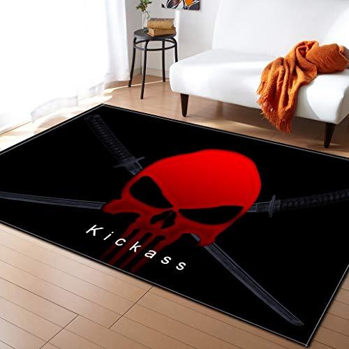 Moquettes, tapis et sous-tapis Tapis de sol créatif motif crâne salon chambre à coucher tapis tapis de sol Tapis antidérapant pour planchers Carpets & Rugs (Couleur : B, taille : 122 * 160cm)