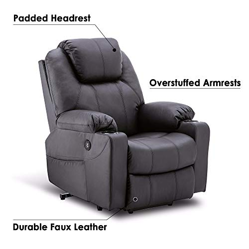 Mcombo Electric Power Lift Massage Sofa Recliner Heated Chair