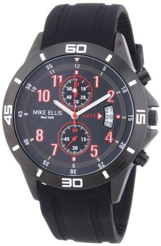 Mike Ellis New York M3096/1 - Reloj de pulsera hombre, silicona, color negro