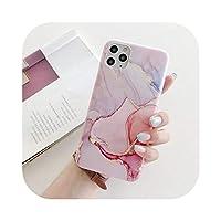 KANLX ファッションラグジュアリーマーブルフォンケースforfor iPhone 11 12 Pro Max XS X XR 7 8 plus SE 2020mini耐衝撃ソフトマットケースカバー -04-for iPhone X