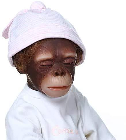Pinky Reborn Muñecos Bebe Reborn Mono Bebé 18 Pulgadas 45cm Bebe Reborn Silicona Muñeca Mono Bebe Muñeca Parece Realista Precioso Mono de Piel Juguete colección
