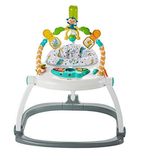 Fisher-Price Mattel FDG98 DE Colourful Carnival SpaceSaver Jumperoo, Baby-Hopser mit Deutscher Anleitung