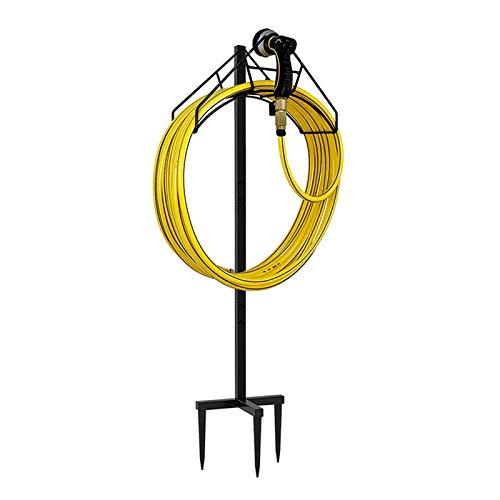 W B D WEIBIDA Garden Hose Holder Detachable Metal Water Hose Hanger Free Standing Garden Hose Storage Hose Stand for Outside Yard