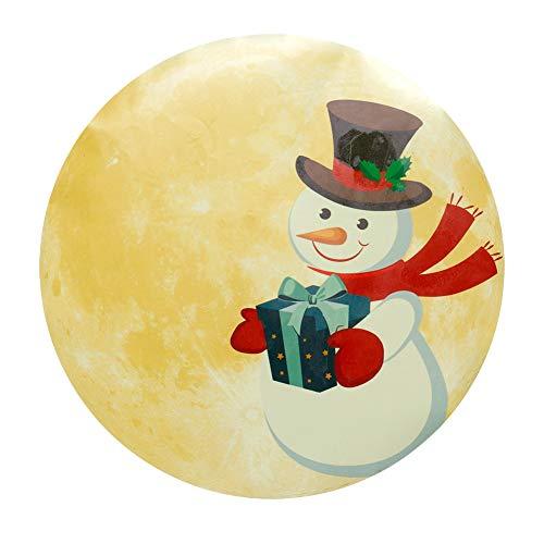 30 cm lichtgevende maanvorm, kerstgloeien, sticker, gloeien, wanddecoraties voor de hoofdmuur, deur, raam, decoratie, MEERWEG AANBIEDING
