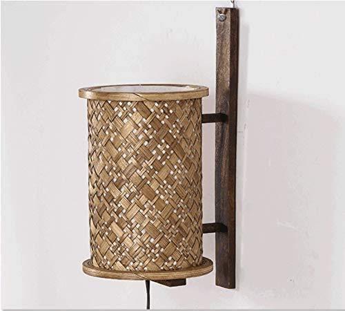 Wlnnes Estilo del sudeste asiático de pared de luz, E27 bambú de...
