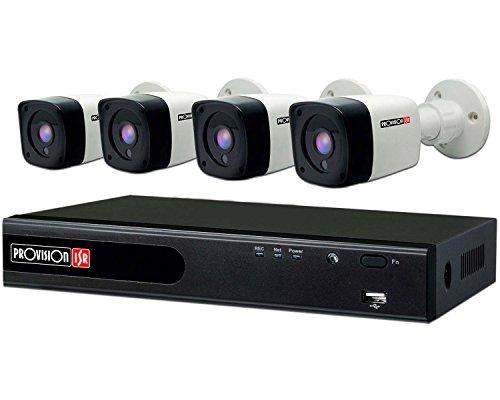 Kit de video vigilancia /Provision Isr/ahd dvr 4 ch/ 4 camaras bala 720p 1 mp/ ir 15 mts/ 4 cables 20 mts coaxial siames