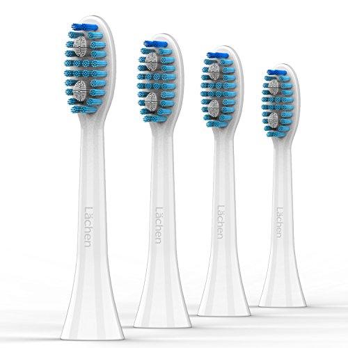 Lächen Standard Aufsteckbürsten, Ersatzbürstenkopf für Lächen elektrische Zahnbürste, S121, 4 Stück, für T8 / 051B / H9