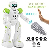 WEECOC/ Smart Robot Toys Gesture Control Remote Control Robot Rc Robot Gift for Boys Girls Kid's Can Singing Dancing Learning Music (Green)