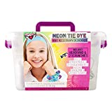 Fashion Angels Tie Dye Kit - Neon Tie Dye Hair Accessories Kit, Non Toxic Dyes, Complete Set with Scrunchies, Headband, Gloves, Elastic Bands, and Storage Bin