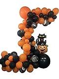 Decoraciones de Halloween Globo Garland Arch Kit 123 Piezas Globos de ágata Negra Naranja Set para la decoración de la Fiesta del día de Halloween