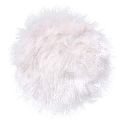 Huihong Spitzenqualität Lammfellimitat Teppich, 30 x 30 cm Lammfellimitat Teppich Longhair Fell Nachahmung Wolle Bettvorleger Sofa Matte (Weiß, 30 * 30CM)