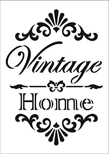 Viva Decor Vintage Home Schablone, A4, weiß