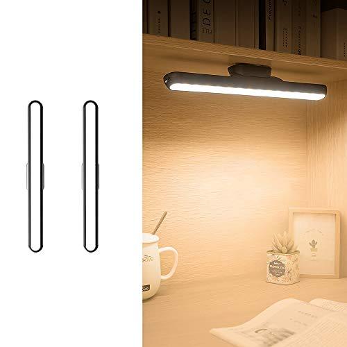 Belief Rebirth 2er-Pack LED kleine Tischlampe USB-Ladeaugen Bedside Lese Streifen-Licht - Adsorption Installation Wandleuchte/Deckenleuchte - 5V 1A Dimming, Einstellbare Nachtlicht