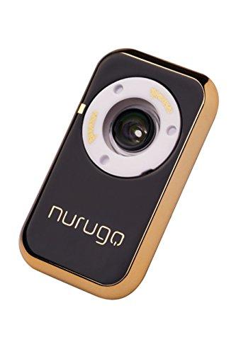 Nurugo Micro Smartphone Mikroskop mit 400x Vergrößerung mit Messfunktion und APP für iOS/Android inklusive Auflage zur Untersuchung von Objektträgern, Schwarz