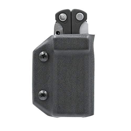 Clip & Carry Kydex Multitool Sheath for LEATHERMAN CHARGE - Made in USA (Multi-tool not included) EDC Multi Tool Sheath Holder Holster Cover (Black)