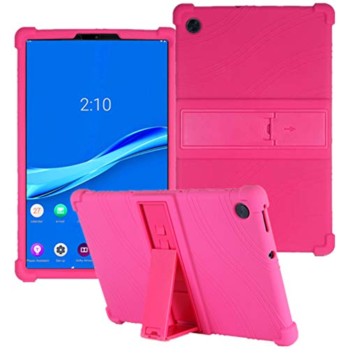 HminSen Case for Lenovo Tab M10 FHD Plus TB-X606F TB-X606X 10.3' Kids Friendly Soft Silicone Shockproof Protective Adjustable Stand Cover for Lenovo Tab M10 Plus 10.3 inch (Rose)