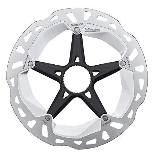 SHIMANO Unisex– Erwachsene RT-MT800 Ice Technologies Freeza Bremsscheibe, Silver/Black, 180mm
