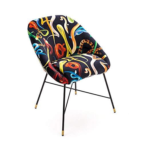 Seletti Toiletpaper Padded Chair Snakes Chaise rembourrée avec décor Serpents