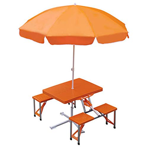 NBRTT Silla de Camping con sombrilla, Maleta Plegable portátil ...
