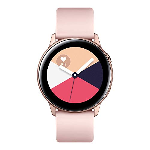 Samsung Galaxy Watch Active Smartwatch Bluetooth v4.2, 40 mm, con GPS, Sensore di Frequenza Cardiaca, Peso 25 g, Batteria 230mAh, Rosa (Rose Gold) [Versione Italiana]