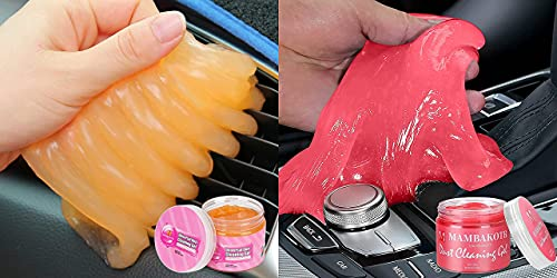 2 Pack of Cleaning Gel, Car Cleaning Kit Car Detailing Kit Car Cleaner Interior Auto Detailing Tools Air Vent Cleaner Car Accessories Universal Dust Cleaner Gel Mud Cleaner Remover for PC, Keyboard