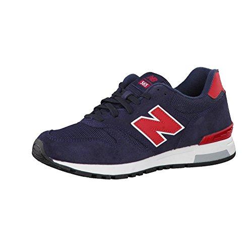 New Balance Herren 565 Sneaker Lauflernschuhe, Blau (Navy/Red), 45.5 EU