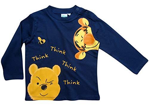 Winnie the Pooh und Tigger Langarmshirt Jungen (Blau, 86-92)