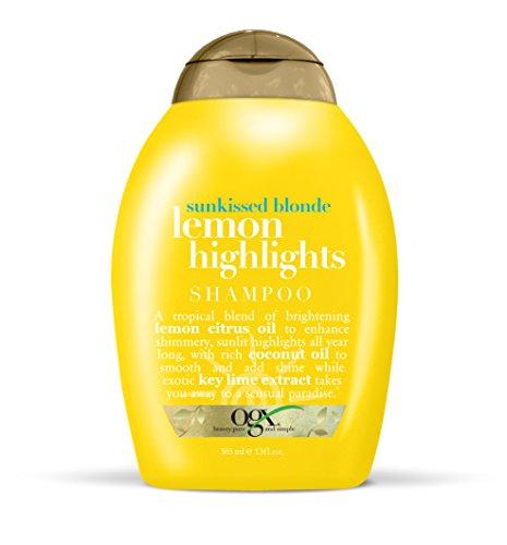 OGX Sunkissed Blonde Lemon Highlights Shampoo, 13 Ounce