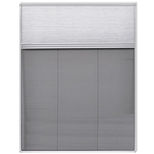 vidaXL Duo-Plisse Insektenschutz Fliegengitter Fenster Aluminium 160×110 cm