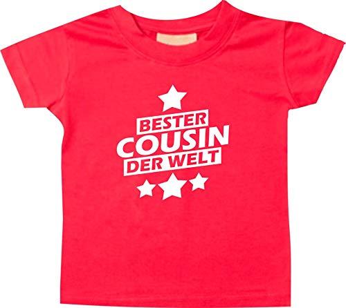 T-Shirt Enfants Cousin du Monde - Rouge, 18-24 Monate