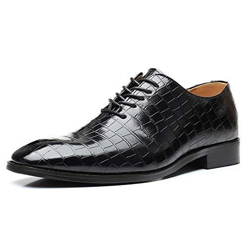 Zapatos de vestir de los hombres en un pie OXFORDS CLÁSICO PARA HOMBRES DE LACE ARRIBA El estilo de la tela escocesa de la tela escocesa de los pies del pie del pie del talón del talón del tacón forma