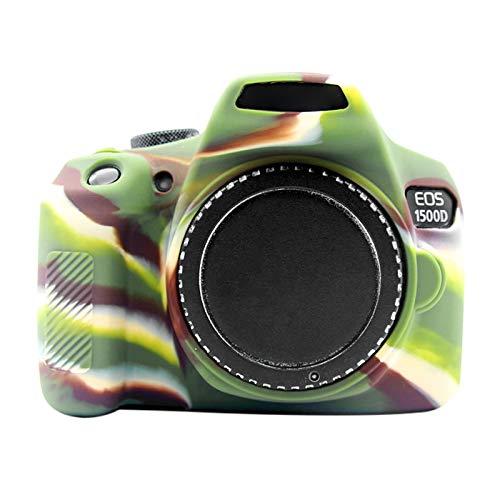 LUOKANG Accessori per Fotocamere Custodia Protettiva in Silicone Morbido for Canon EOS 1300D / 1500D (Camouflage) (Colore : Color1)
